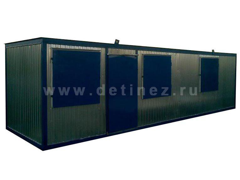 Блок-контейнер 9х2,5м окна ПВХ, ставни