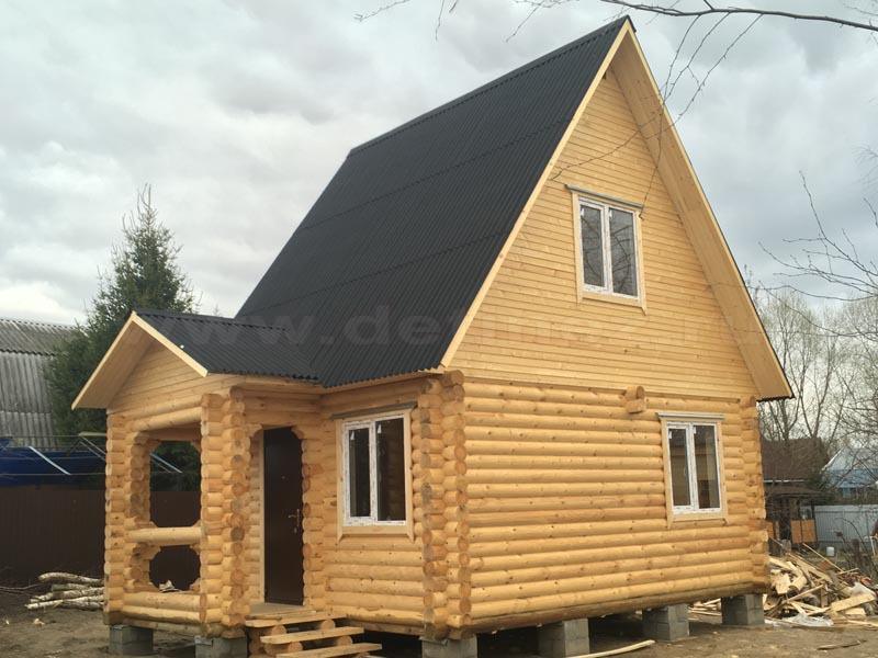 Дачный дом из бревна 401