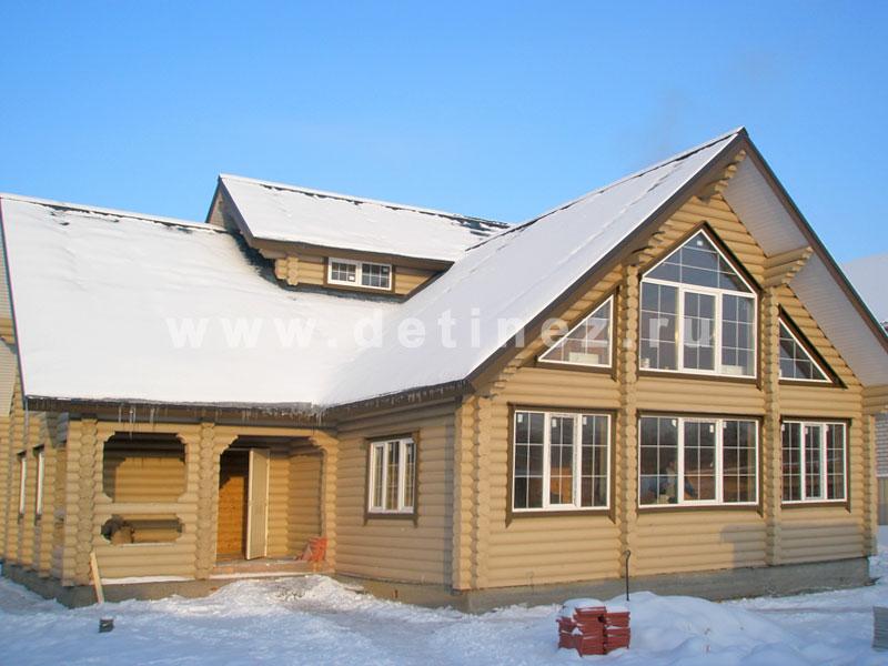 Дом из бревна 419