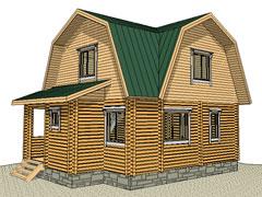 Фото 1383 - дачный дом из бруса 6х8м