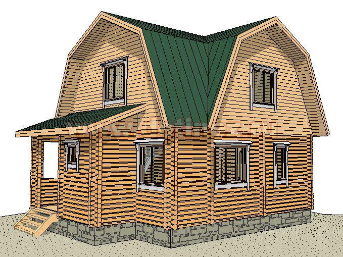 Дачный дом из бруса 1383