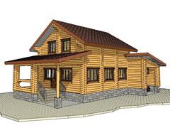 Фото 1384 - дом из бревна 7,8x8,6