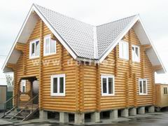 Дома из оцилиндрованного бревна 10х10м