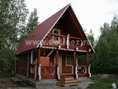 Дома из бревна 6х6м