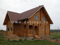 Дома из оцилиндрованного бревна 8х10м