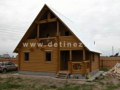 Дома из бревна 8х8м