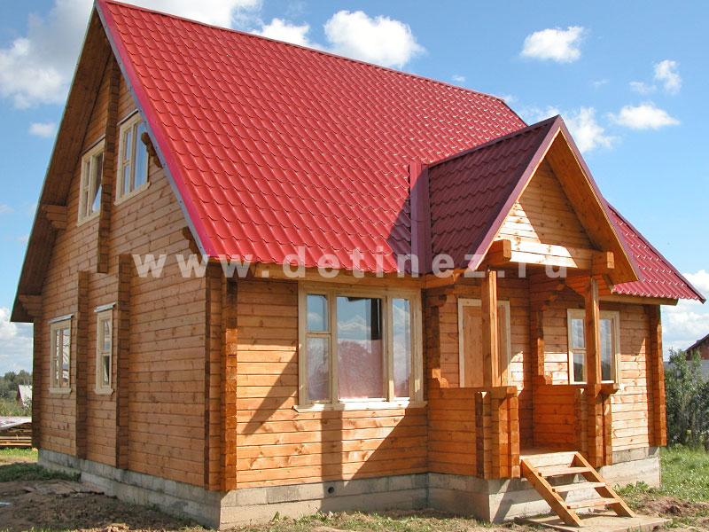 Дом из клееного бруса 152 10х10м