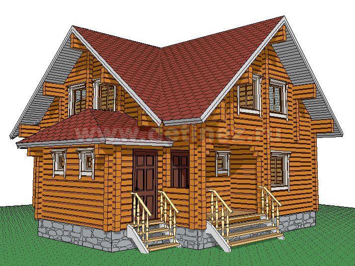 Дом из бруса 1385