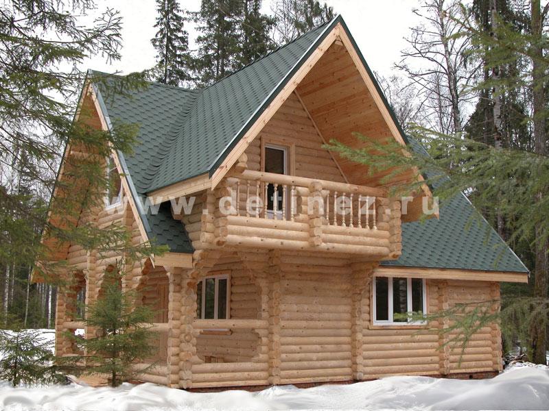 Дома из оцилиндрованного бревна 7х9м
