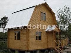 Дома из клееного бруса 4х6м