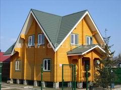 Дома из клееного бруса 8х9м