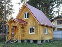 Фото 401 - дачный дом из бревна 5х6м