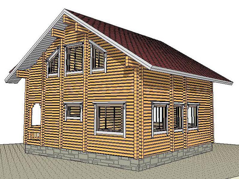 Дом 1363 из бруса