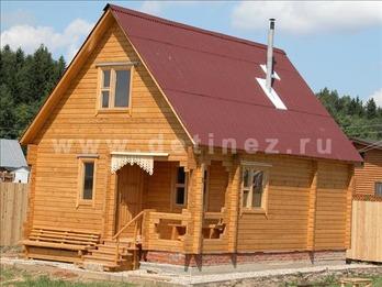 Дачный дом 2173Д из бруса
