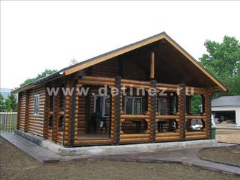 Одноэтажный дом из бревна 1095