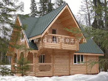 Дом из бревна 112 7х9м