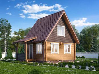 Дом из бревна 1420 6х6м