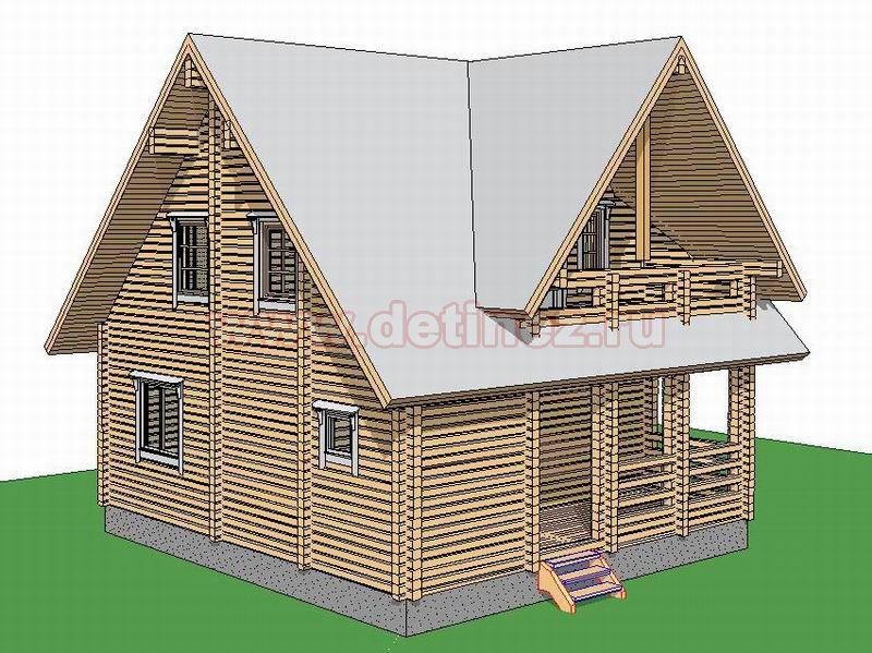 Дом 1380 из бруса