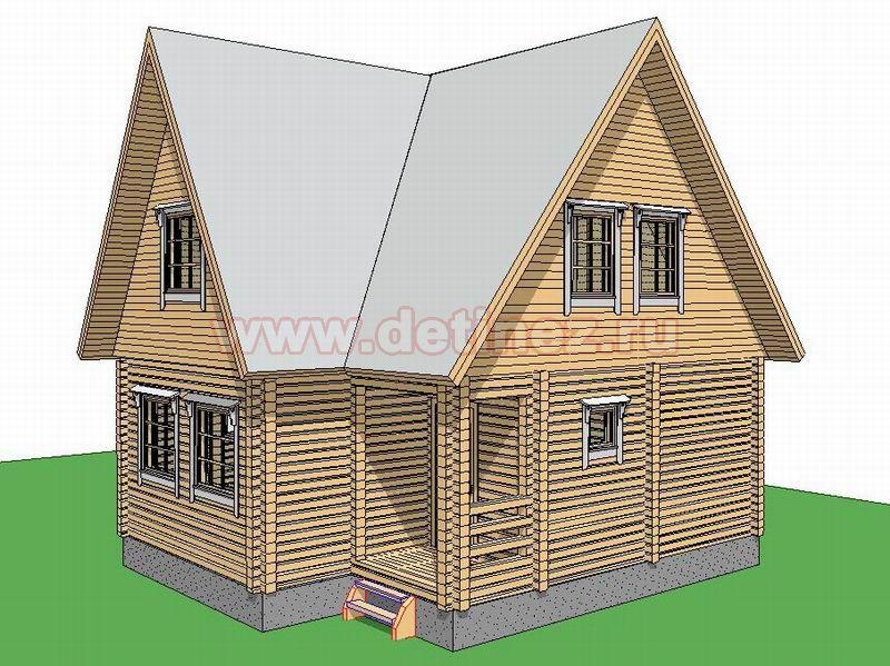 Дом 1382 из бруса