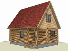 Фото 2173Д - дачный дом 6х8 из бруса