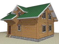 Дом 1364 из бруса