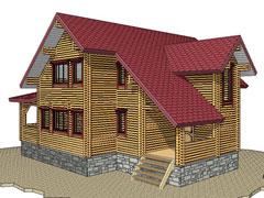 Дом 1365 из бруса