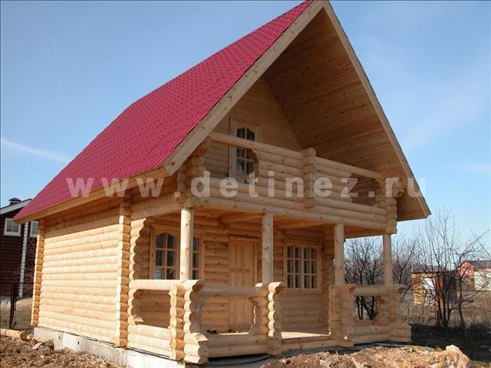 Дачный дом 43 из бревна