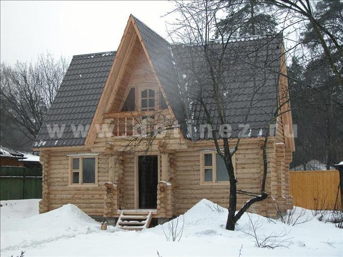 Дачный дом 51 из бревна