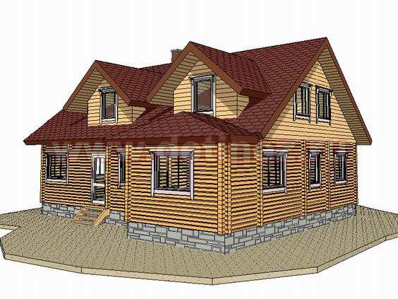 Дом 1342 из бревна