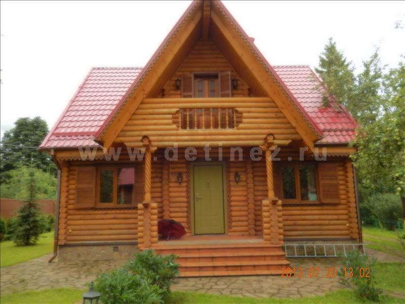 Дачный дом из бревна 1201