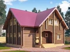 Фото 1428 - дом из бревна 10х11м