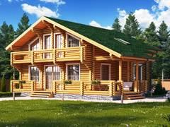 Фото 1429 - дом из бревна 10х12м