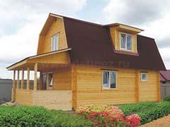 Фото 1464 - дом из бруса 6х8м