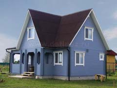 Фото 1465 - дом из бруса 8х10м