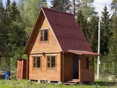 Фото 1470 - дачный дом из бруса 4х5м