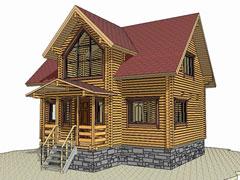 Фото 1357 - дачный дом 6х9 из бруса