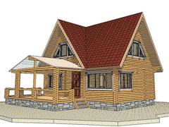 Фото 1359 - дачный дом 6х9 из бруса