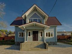 Фото 1402 - дом из бруса 5.6х8.6м, 88м²