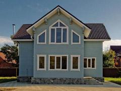 Фото 1403 - дом из бруса 9.72х9.72м, 140м²