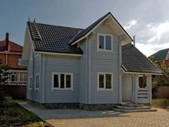 Фото 1404 - дом из бруса 9х8.5м, 107м²