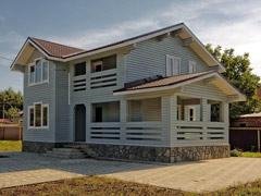 Фото 1406 - дом из бруса 9х9м, 147м²
