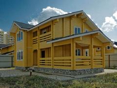Фото 1411 - дом из бруса 9.5х9м, 122 м²