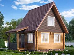 Фото 1420 - дом из бревна 6х6м