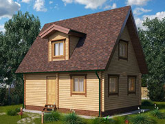 Фото 1422 - дачный дом из бруса 6х8м