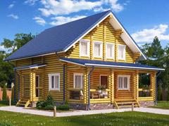 Фото 1423 - дом из бревна 8,5х9,5м
