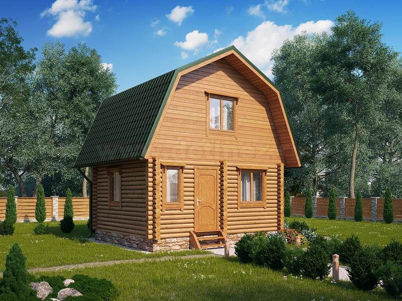 Дом из бревна 1417 35,5м2