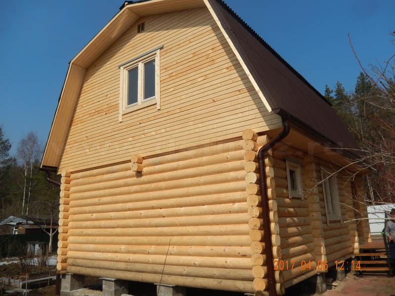 Дачный дом из бревна 1247