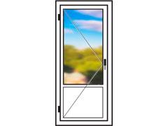 Пластиковые балконные двери 900х2100мм
