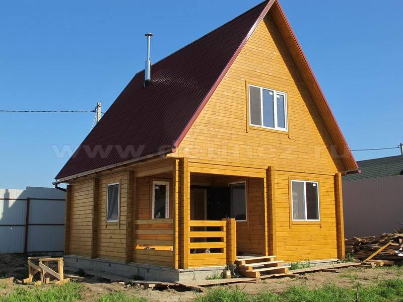 Дом-баня из клееного бруса 225Б