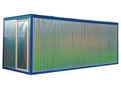 Блок-контейнер строительный 6х2,5м без окон